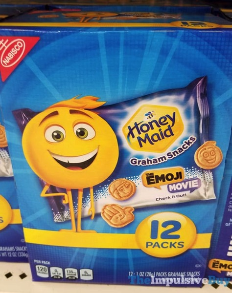 Honey Maid The Emoji Movie Graham Snacks 12 Pack