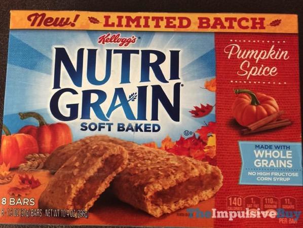 Kellogg s Limited Batch Nutrigrain Pumpkin Spice Soft Baked Bars  2017