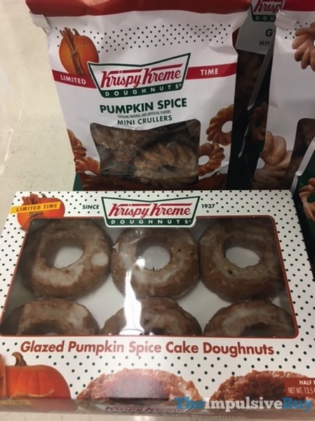 Krispy Kreme Limited Time Pumpkin Spice Mini Crullers and Cake Doughnuts  2017