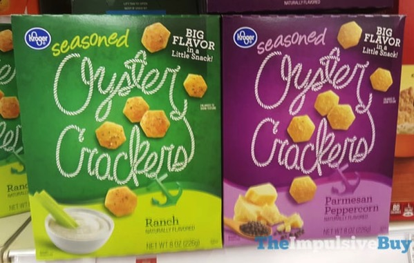 Kroger Seasoned Oyster Crackers  Ranch and Parmesan Peppercorn