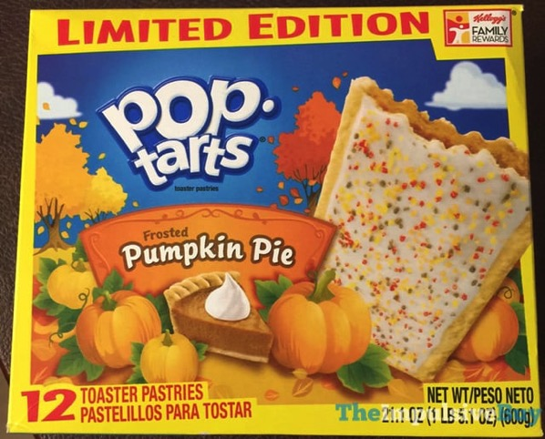 Limited Edition Frosted Pumpkin Pie Pop Tarts  2017