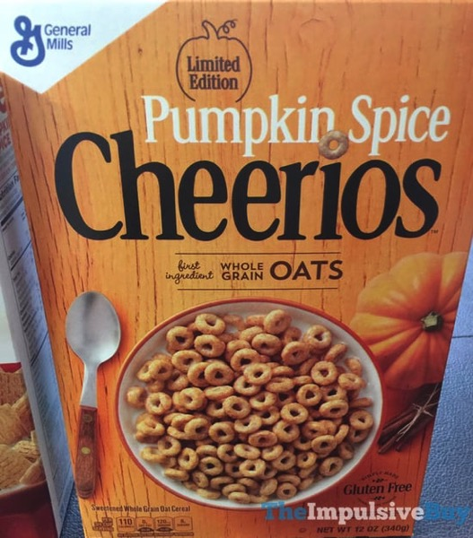 Limited Edition Pumpkin Spice Cheerios  2017