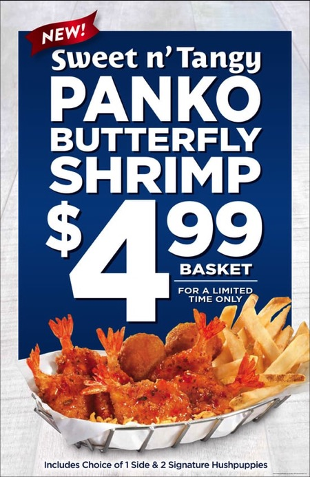 Long John Silver s Sweet n Tangy Panko Butterfly Shrimp