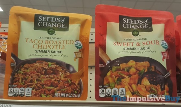 Seeds of Change Simmer Sauces  Taco Roasted Chipotle and Sweet  Sour