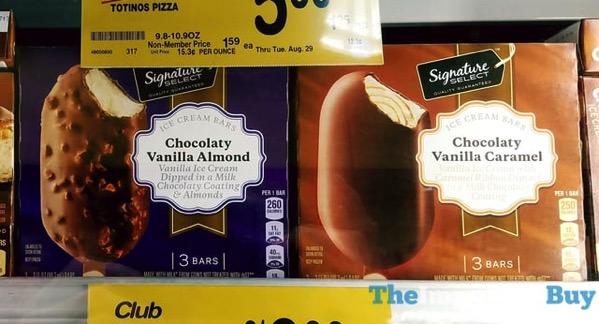 Signature Select Ice Cream Bars  Chocolaty Vanilla Almond and Chocolaty Vanilla Caramel