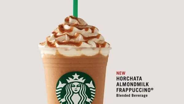 Starbucks Horchata Almondmilk Frappuccino