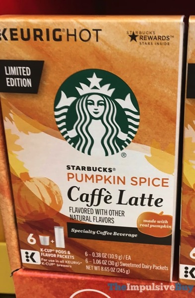 Starbucks Limited Edition Pumpkin Spice Caffe Latte K Cups  2017