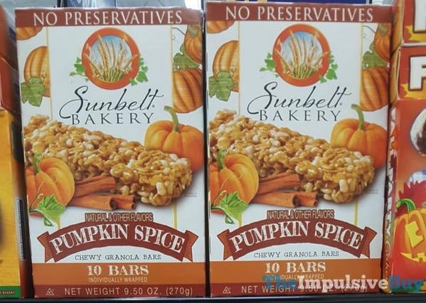 Sunbelt Bakery Pumpkin Spice Chewy Granola Bars  2017