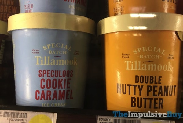 Tillamook Special Batch Ice Cream  Speculoos Cookie Caramel and Double Nutty Peanut Butter