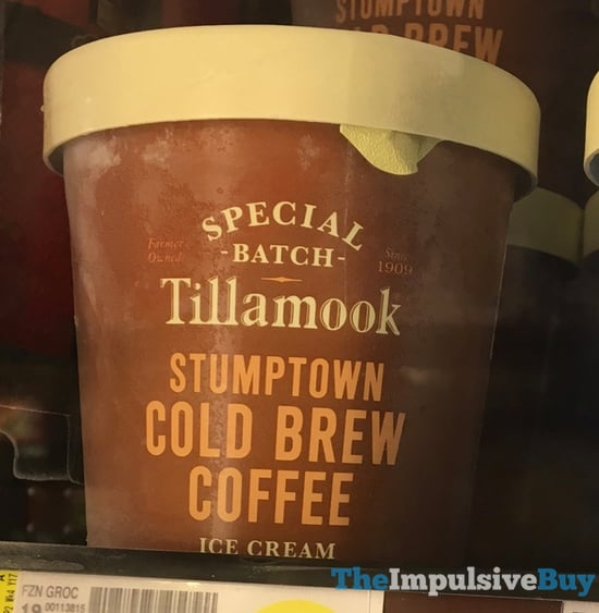 Tillamook Special Batch Stumptown Cold Brew Coffee Ice Cream