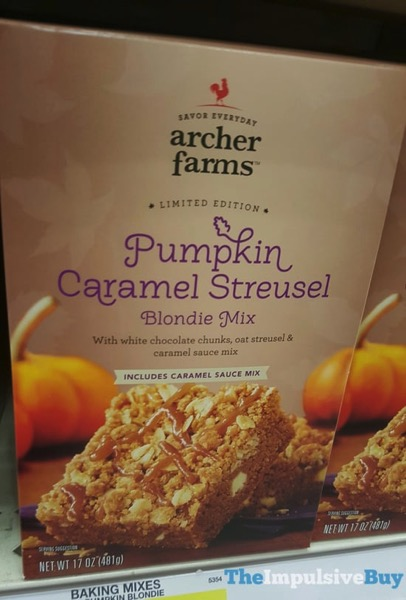 Archer Farms Limited Edition Pumpkin Caramel Streusel Blondie Mix  2017