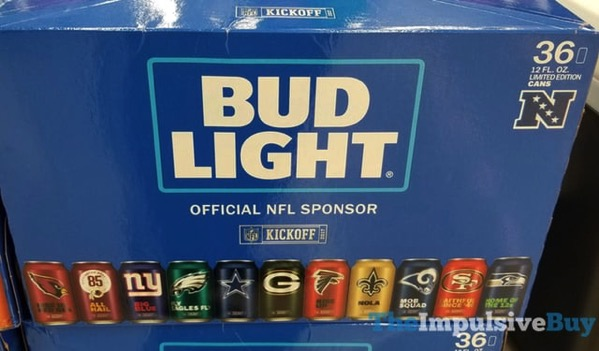 Bud Light 2017 Limited Edition NFL Cans 2