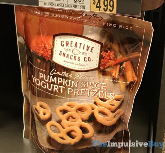 Creative Snacks Co Limited Edition Pumpkin Spice Yogurt Pretzels  2017