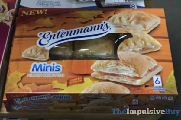Entenmann s Limited Edition Minis Pumpkin Creme Puffs
