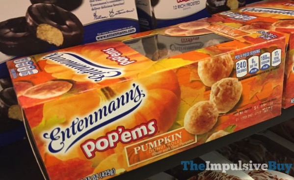 Entenmann s Pop ems Pumpkin Donut Holes  2017