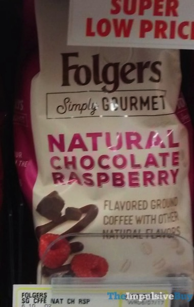 Folgers Simply Gourmet Natural Chocolate Raspberry Ground Coffee