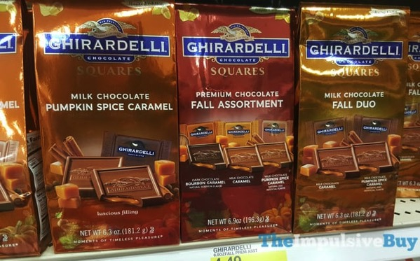 Ghirardelli Squares Milk Chocolate Pumpkin Spice Caramel Fall Assortment and Fall Duo  2017