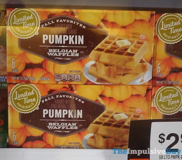 Giant Limited Time Originals Fall Favorites Pumpkin Belgian Waffles
