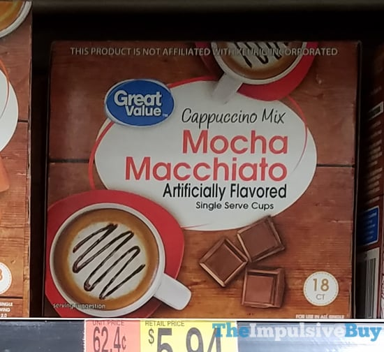 Great Value Mocha Macchiato Cappuccino Mix