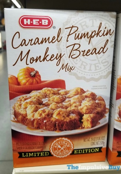 H E B Limited Edition Caramel Pumpkin Monkey Bread Mix  2017
