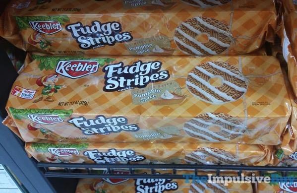 Keebler Limited Batch Pumpkin Spice Fudge Stripes Cookies  2017