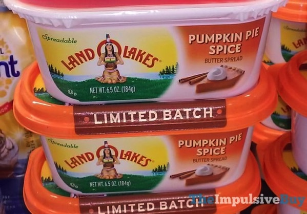 Land O Lakes Limited Batch Pumpkin Pie Spice Spread  2017