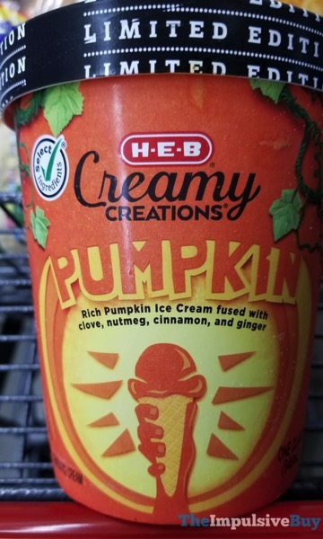 Limited Edition H E B Creamy Creations Pumpkin Ice Cream  2017