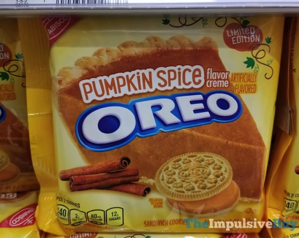 Limited Edition Pumpkin Spice Oreo Cookies  2017