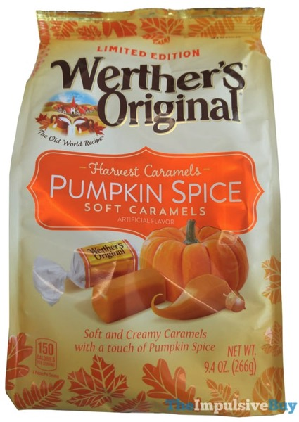 Limited Edition Werther s Original Harvest Caramels Pumpkin Spice Soft Caramels