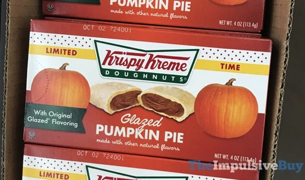 Limited Time Krispy Kreme Glazed Pumpkin Pie  2017
