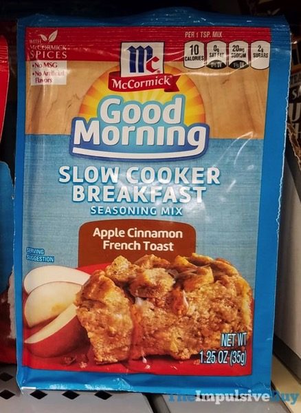 McCormick Good Morning Apple Cinnamon French Toast Slower Cooker Breakfast Seasoning Mix