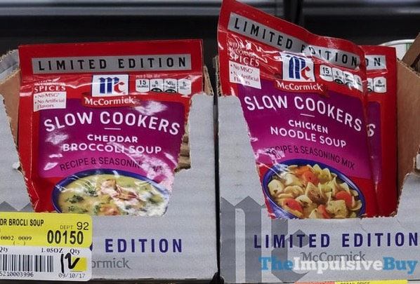 McCormick Limited Edition Slow Cookers Mixes  Cheddar Broccoli Soup and Chicken Noodle Soup