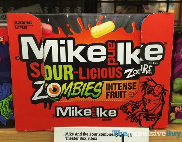 Mike and Ike Sour licious Zours Zombies Intense Fruit