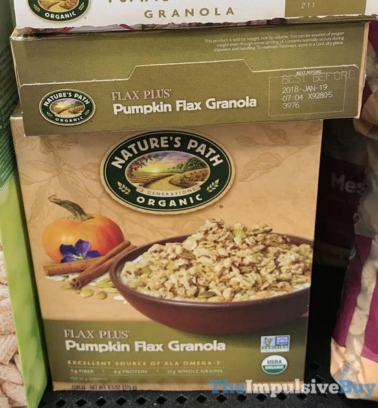 Nature s Path Flax Plus Pumpkin Flax Granola  2017