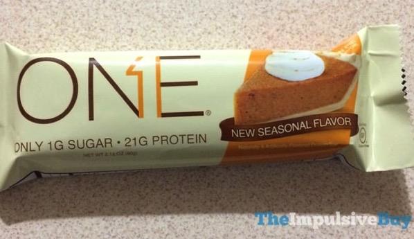 Oh Yeah Pumpkin Pie One Protein Bar  2017