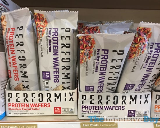 Performix Protein Wafers  Chocolate Peanut Butter and Fruity Charms