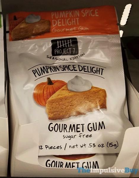 Project 7 Pumpkin Spice Delight Gourmet Gum  2017