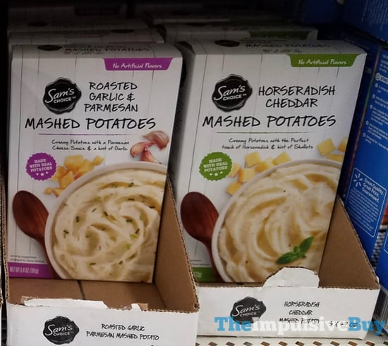 Sam s Choice Mashed Potatoes  Roasted Garlic  Parmesan and Horseradish Cheddar