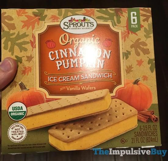 Sprouts Organic Cinnamon Pumpkin Ice Cream Sandwiches