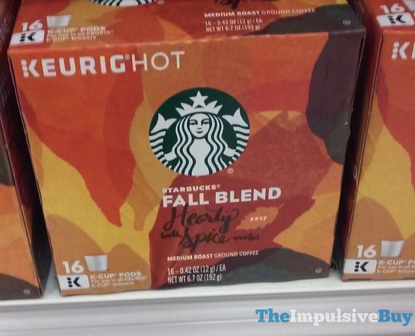 Starbucks Fall Blend 2017 Hearty with Spice Notes K Cups