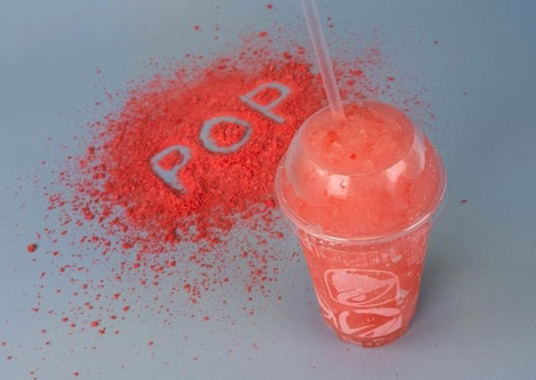 Taco Bell Strawberry Poppin Candy Freeze