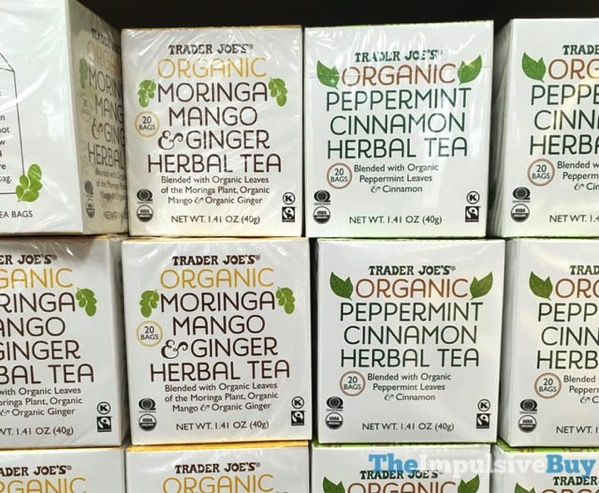 Trader Joe s Organic Moringa Mango  Ginger and Peppermint Cinnamon Herbal Teas