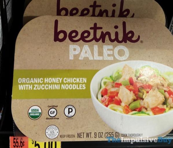 Beetnik Paleo Organic Honey Chicken with Zucchini Noodles