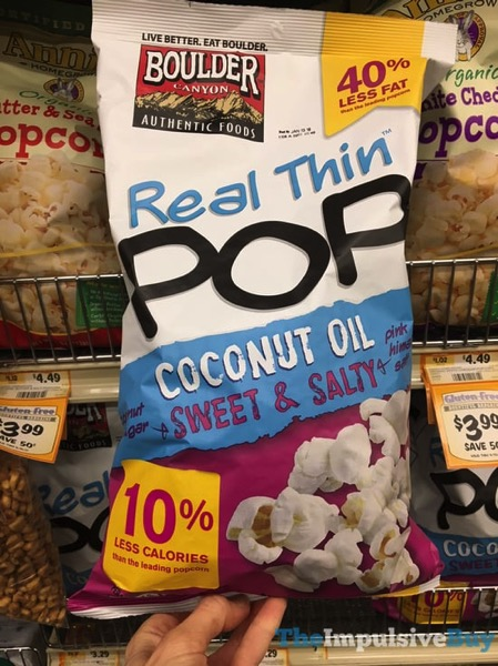 Boulder Canyon Real Thin Pop Coconut Oil Sweet  Salty