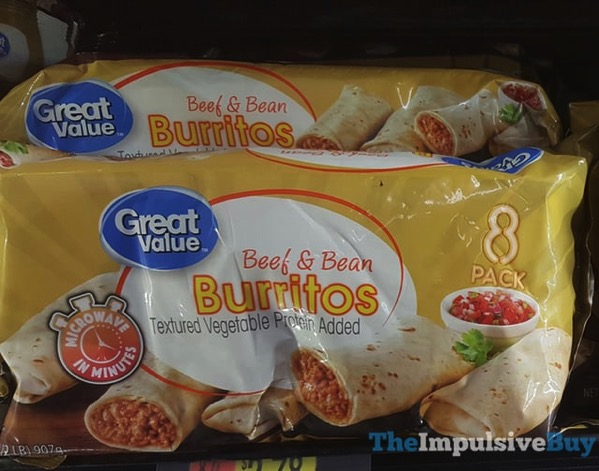 Great Value Beef  Bean Burritos