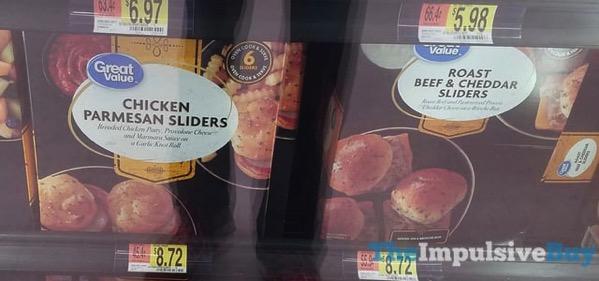 Great Value Chicken Parmesan Sliders and Roast Beef  Cheddar Sliders