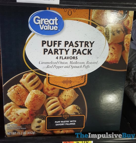 Great Value Puff Pastry Party Pack  Caramelized Onion Mushroom Roasted Red Pepper and Spinach Puffs