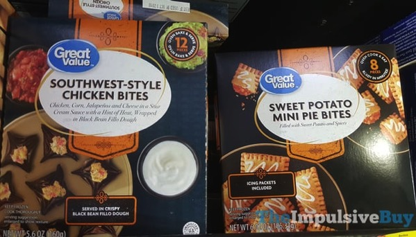 Great Value Southwest Style Chicken Bites and Sweet Potato Mini Pie Bites