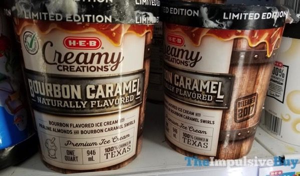 H E B Creamy Creations Limited Edition Bourbon Caramel Ice Cream