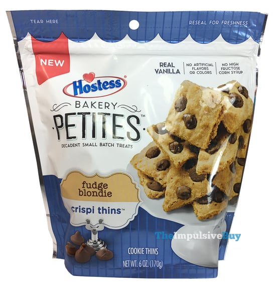 Hostess Bakery Petites Fudge Blondie Crispi Thins